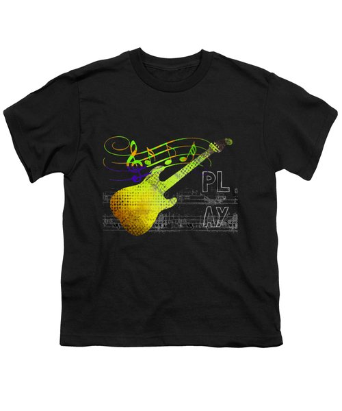 Youth T-Shirt featuring the digital art Play 2 by Guitar Wacky