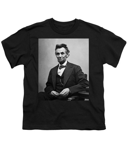 Portrait Of President Abraham Lincoln Youth T-Shirt