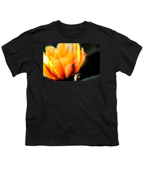 Prickly Pear Flower Youth T-Shirt by Lynn Geoffroy