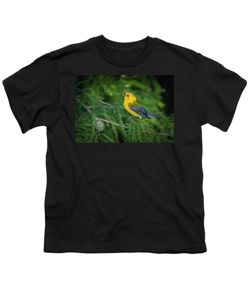 Prothonatory Warbler 9809 Youth T-Shirt