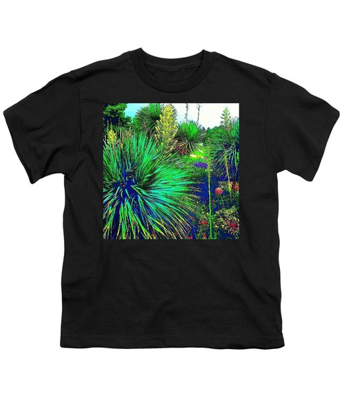 Psychedelic Yuccas. #plant #yucca Youth T-Shirt by Austin Tuxedo Cat