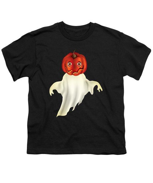 Pumpkin Headed Ghost Graphic Youth T-Shirt