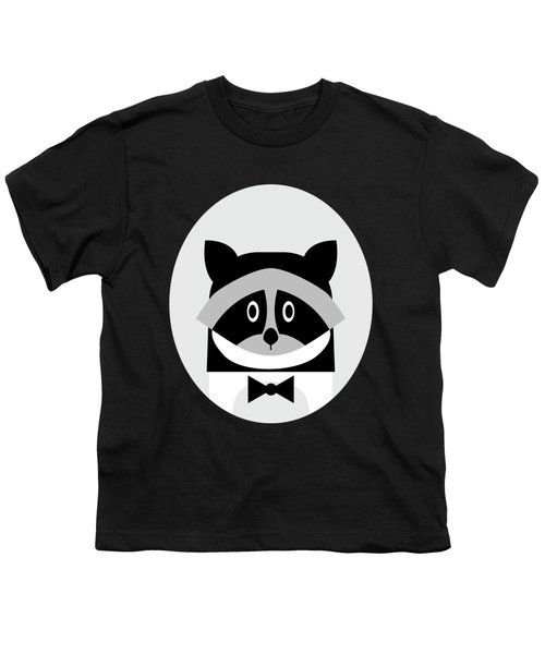 Racoon Bw Youth T-Shirt
