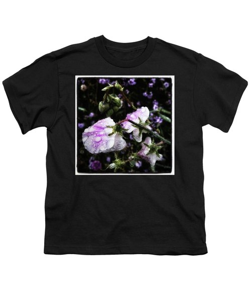 Youth T-Shirt featuring the photograph Rain Kissed Petals. This Flower Art by Mr Photojimsf