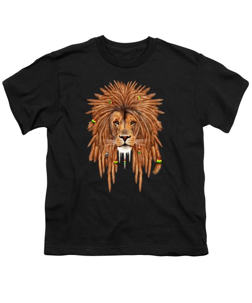 Rasta Lion Dreadlock Youth T-Shirt