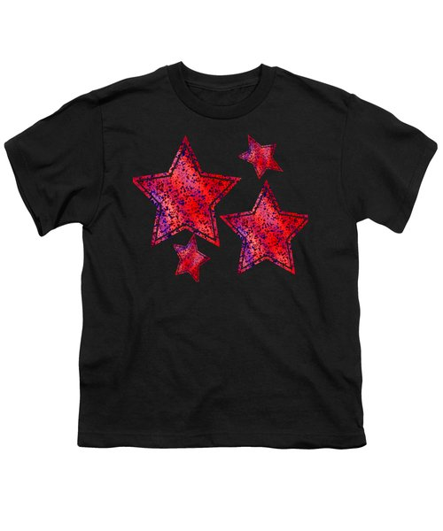 Red And Blue Splatter Abstract Youth T-Shirt