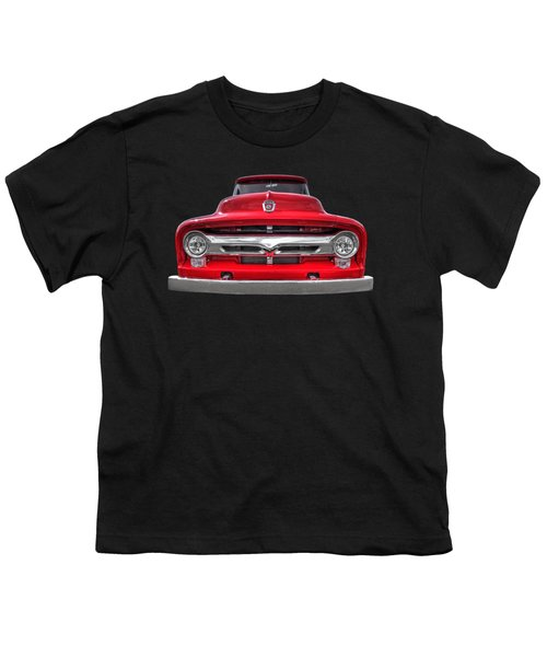 Red Ford F-100 Head On Youth T-Shirt