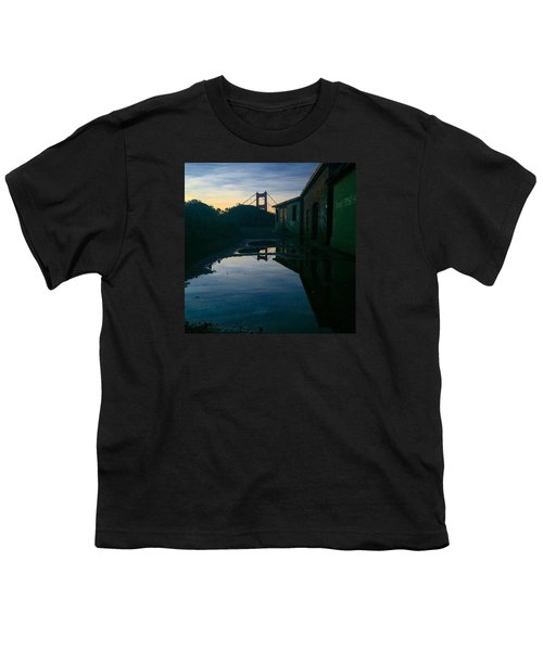 Reflecting On Past Wars Youth T-Shirt by Eugene Evon