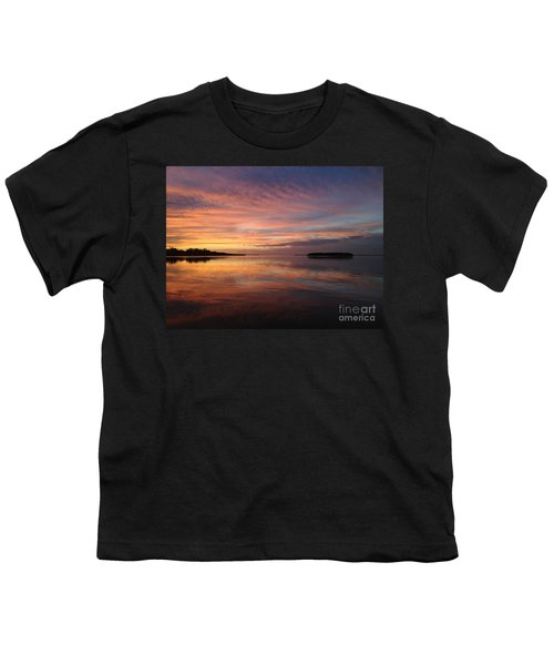 Reflections At Sunset In Key Largo Youth T-Shirt