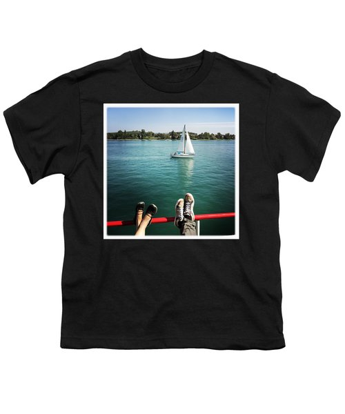 Relaxing Summer Boat Trip Youth T-Shirt