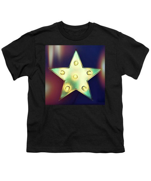 Retro Star With Light Bulbs Youth T-Shirt