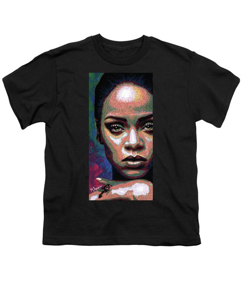 Rihanna Youth T-Shirt by Maria Arango
