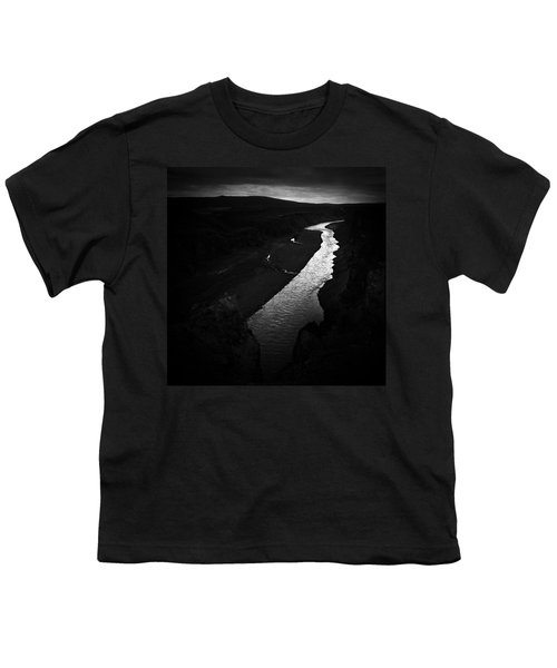 River In The Dark In Iceland Youth T-Shirt