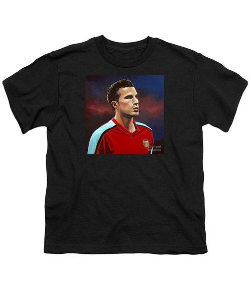 Robin Van Persie Youth T-Shirt by Paul Meijering