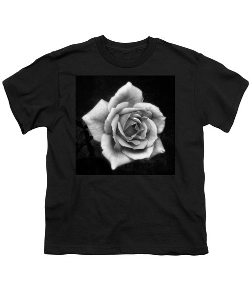 Rose In Mono. #flower #flowers Youth T-Shirt by John Edwards