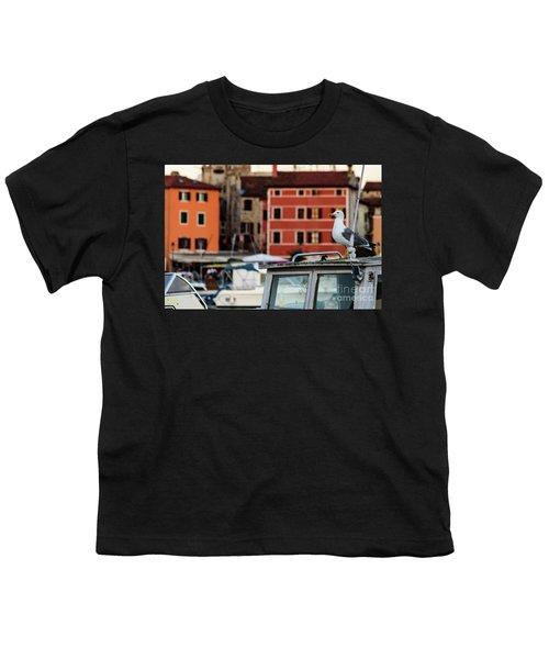Rovinj Harbor Seagull - Rovinj, Istria, Croatia Youth T-Shirt