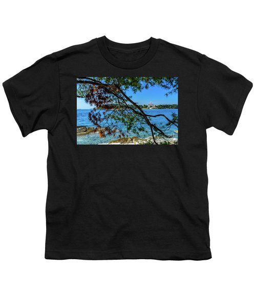 Rovinj Old Town Accross The Adriatic Through The Trees Youth T-Shirt
