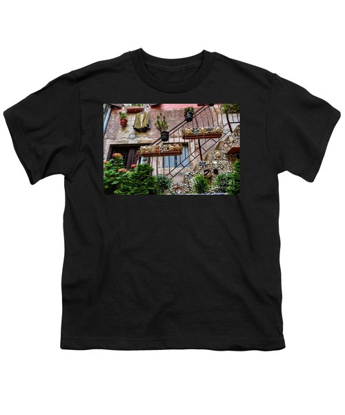 Rovinj Old Town Courtyard, Rovinj Croatia Youth T-Shirt
