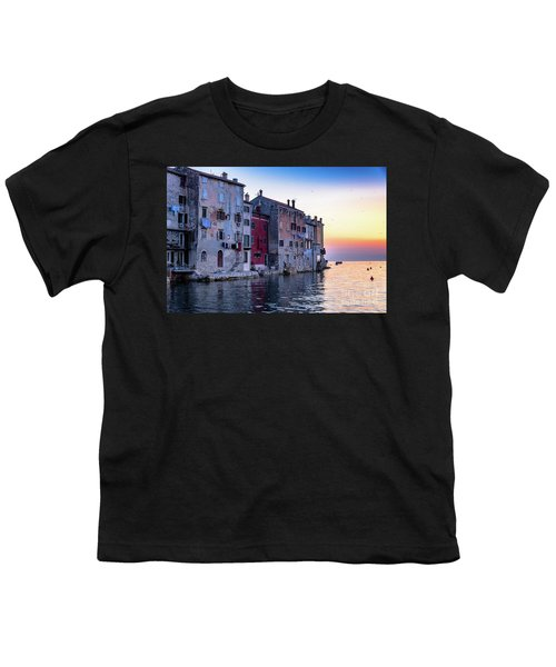Rovinj Old Town On The Adriatic At Sunset Youth T-Shirt