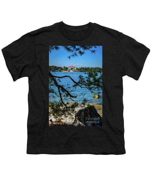 Rovinj Seaside Through The Adriatic Trees, Istria, Croatia Youth T-Shirt