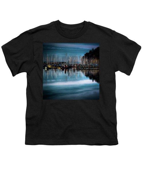 Sailboats At Sunset Youth T-Shirt by David Patterson