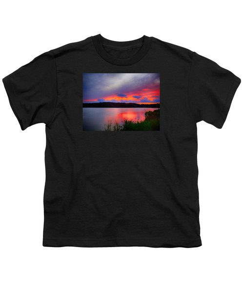 Shelf Cloud At Sunset Youth T-Shirt by Bill Barber