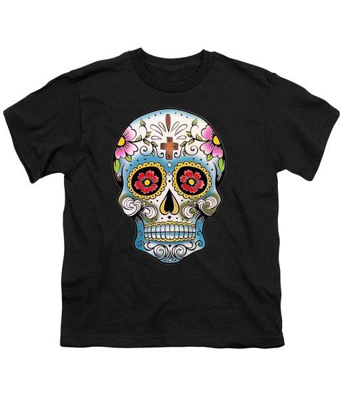 Skull 10 Youth T-Shirt by Mark Ashkenazi