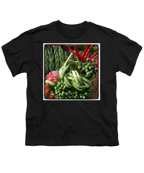 Youth T-Shirt featuring the photograph Snake Beans. At The Surin Elephant by Mr Photojimsf