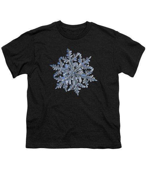 Snowflake Macro Photo - 13 February 2017 - 3 Black Youth T-Shirt