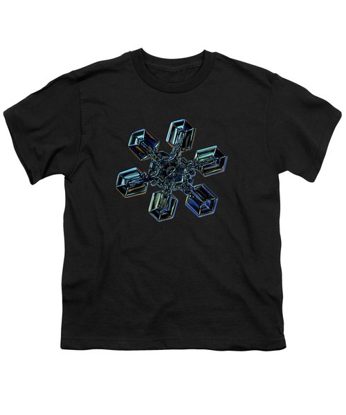 Snowflake Photo - High Voltage IIi Youth T-Shirt by Alexey Kljatov