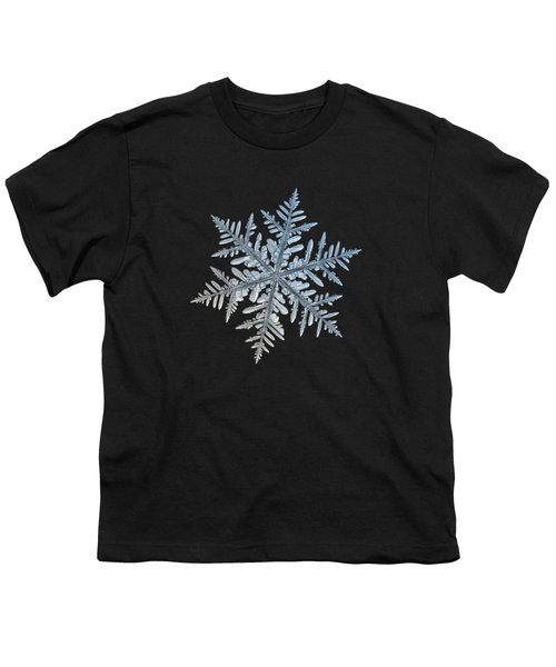 Youth T-Shirt featuring the photograph Snowflake Photo - Silverware by Alexey Kljatov