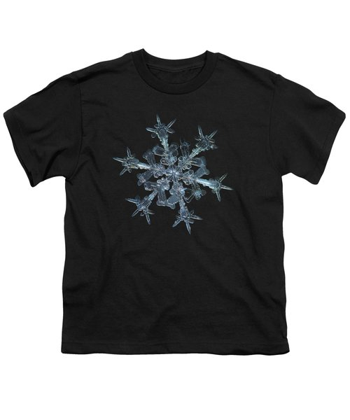Snowflake Photo - Starlight Youth T-Shirt by Alexey Kljatov