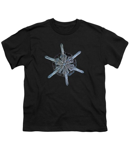 Snowflake Photo - Steering Wheel Youth T-Shirt by Alexey Kljatov