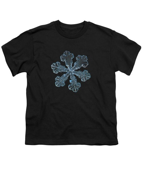 Snowflake Photo - Vega Youth T-Shirt by Alexey Kljatov