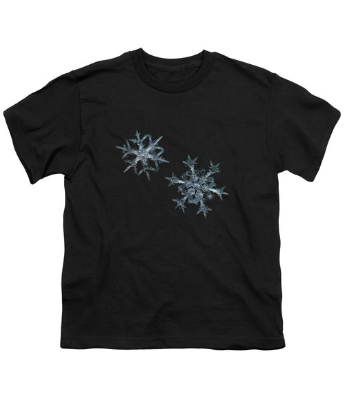 Snowflake Photo - When Winters Meets - 2 Youth T-Shirt