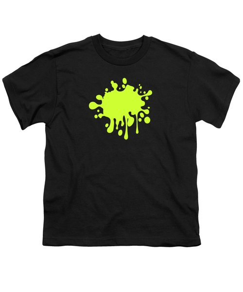 Solid Electric Lime Color Youth T-Shirt by Garaga Designs