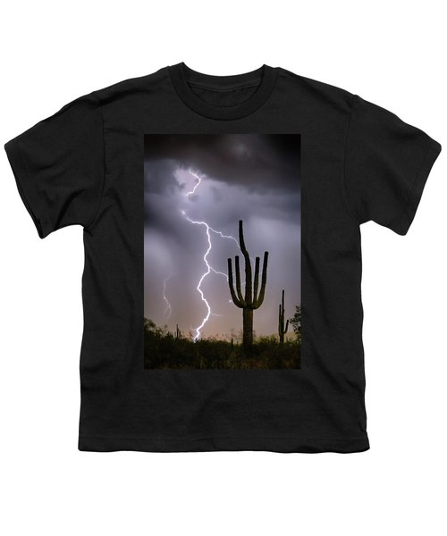 Youth T-Shirt featuring the photograph Sonoran Desert Monsoon Storming by James BO Insogna