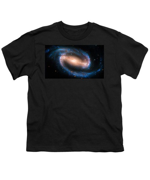 Space Image Barred Spiral Galaxy Ngc 1300 Youth T-Shirt by Matthias Hauser
