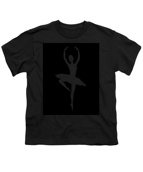 Spin Of Ballerina Silhouette Youth T-Shirt