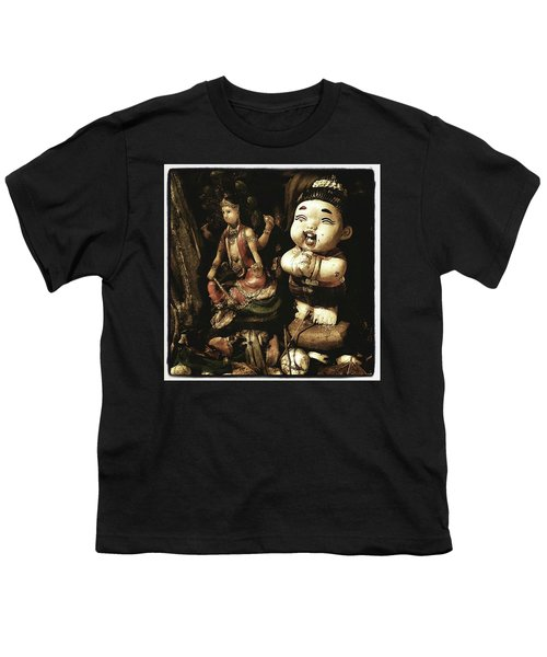 Youth T-Shirt featuring the photograph Spirit Cemetery. When A Business Or by Mr Photojimsf