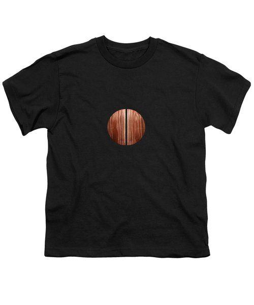 Split Circle Red Youth T-Shirt by YoPedro