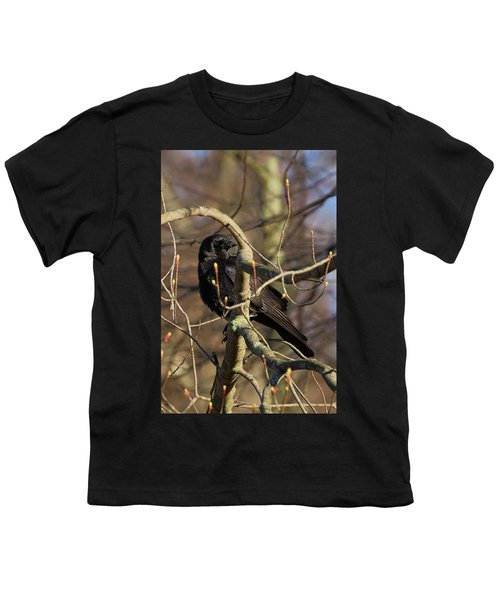 Youth T-Shirt featuring the photograph Springtime Crow by Bill Wakeley