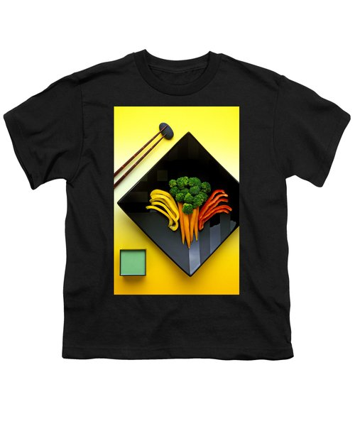 Square Plate Youth T-Shirt by Garry Gay