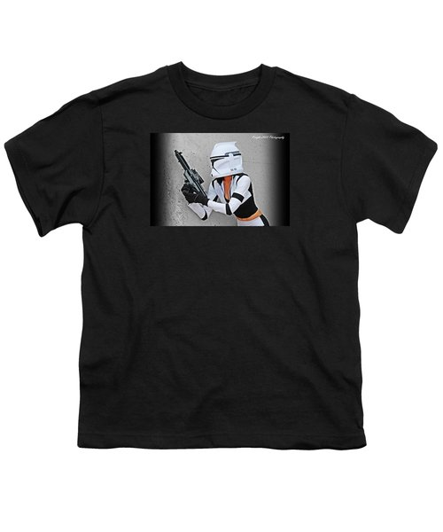 Star Wars By Knight 2000 Photography - Waiting Youth T-Shirt by Laura Michelle Corbin
