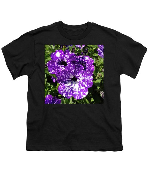 Starry Petunias... Youth T-Shirt