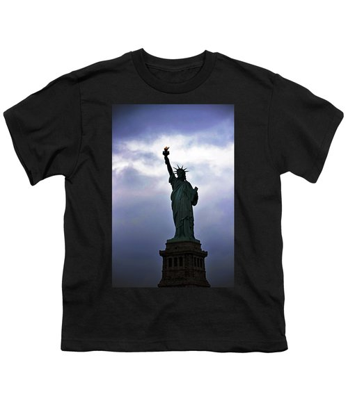 Statue Of Liberty May 2016 Youth T-Shirt by Sandy Taylor