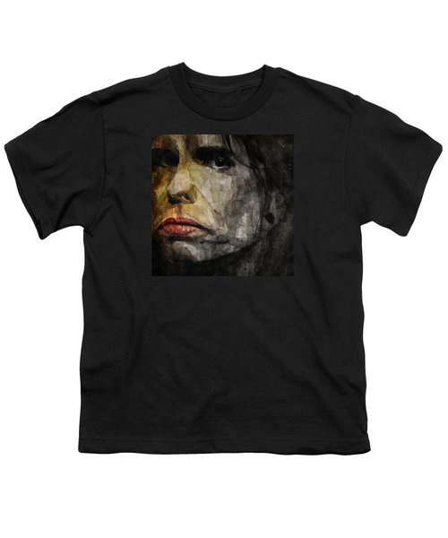 Steven Tyler  Youth T-Shirt by Paul Lovering