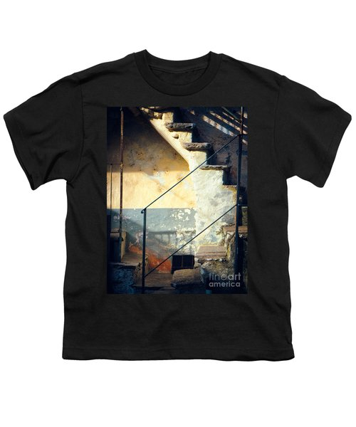 Youth T-Shirt featuring the photograph Stone Steps Outside An Old House by Silvia Ganora