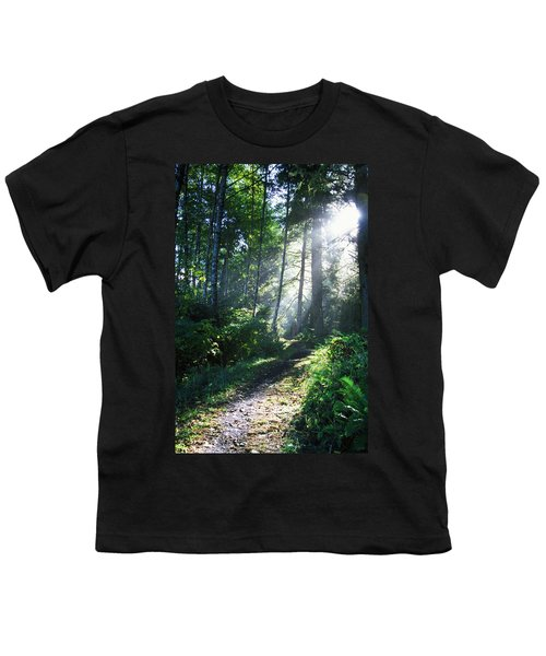 Sunlight Through Trees, Ecola State Youth T-Shirt