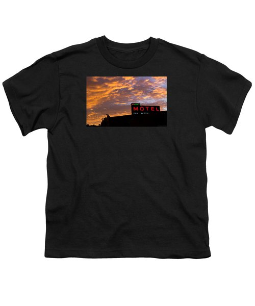 Youth T-Shirt featuring the photograph Sunrise Enters Capitola by Lora Lee Chapman